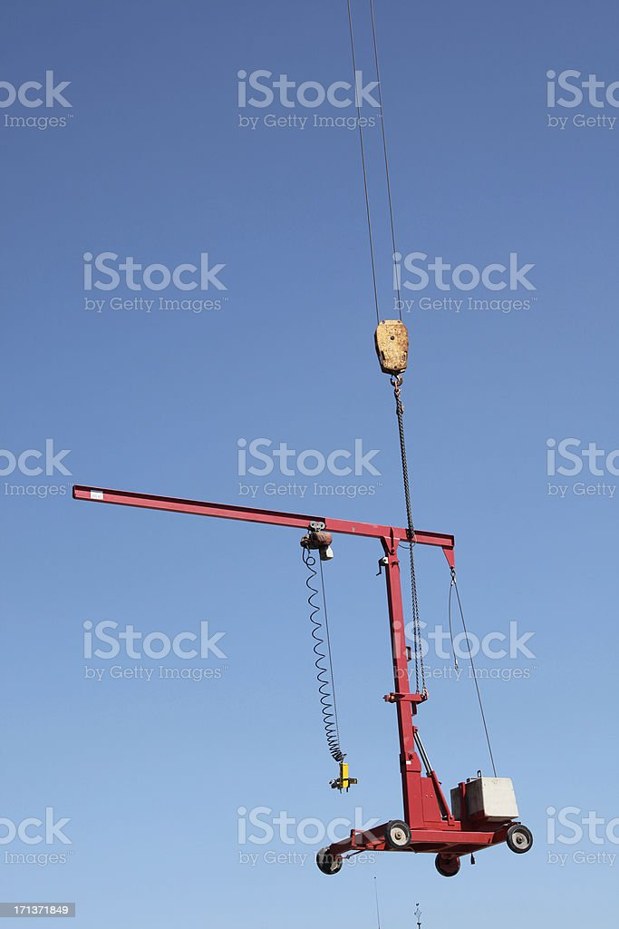 Transportation of equipment for construction site royalty-free stock photo
