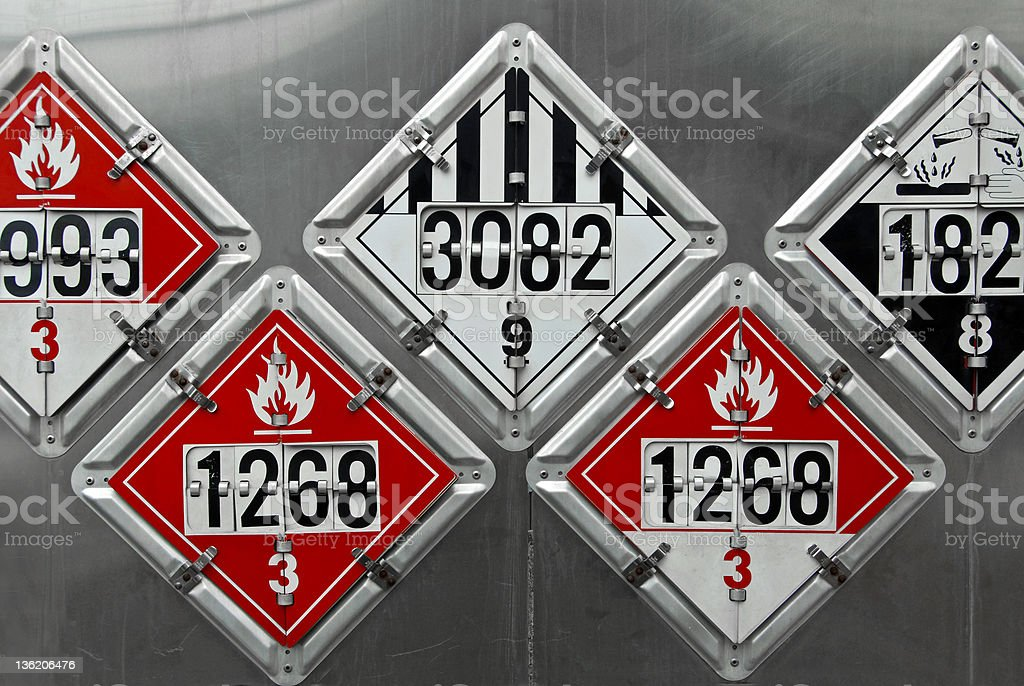 Transportation Placards stock photo