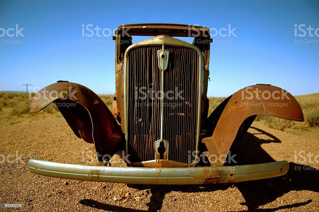Transportation : Rusted Vintage Car stock photo