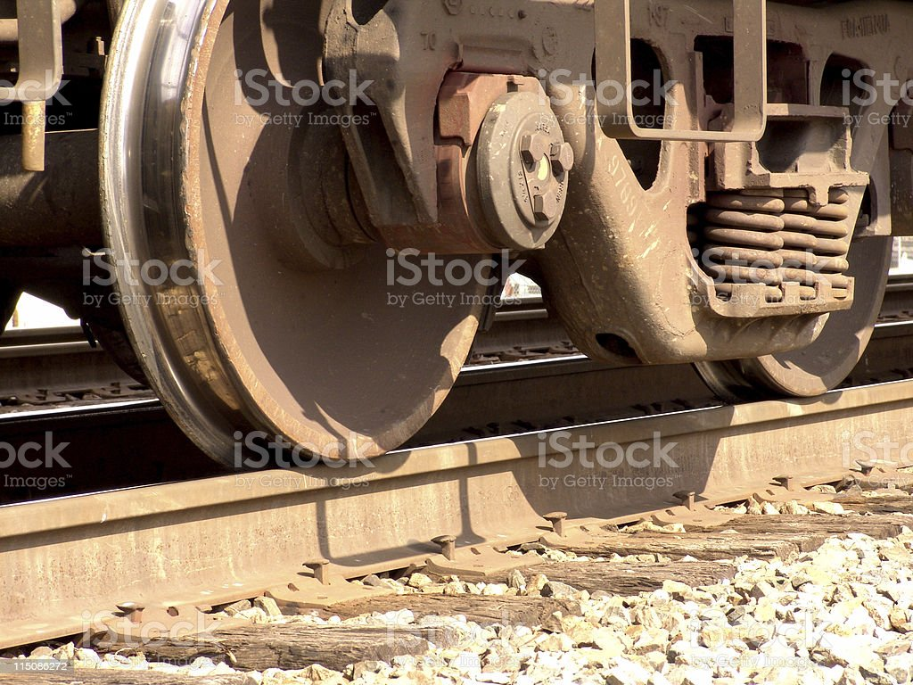 transportation scenes - train wheel stock photo