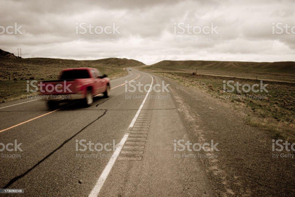 Transportation: Stormy Future royalty-free stock photo