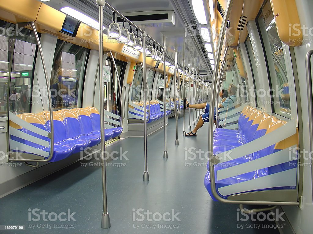 Transportation - Train Interior stock photo