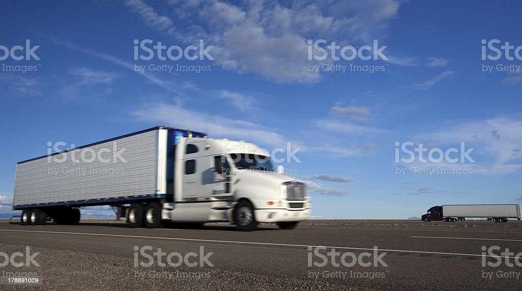 Transportation: Trucking royalty-free stock photo