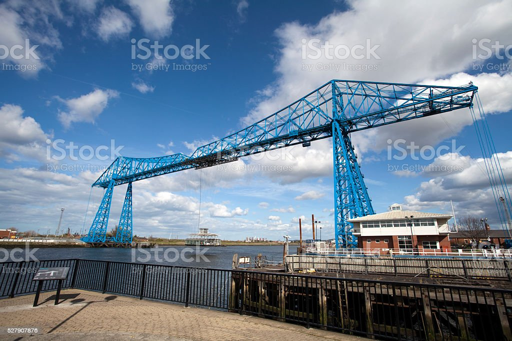 Transporter Bridge, Middlesbrough stock photo