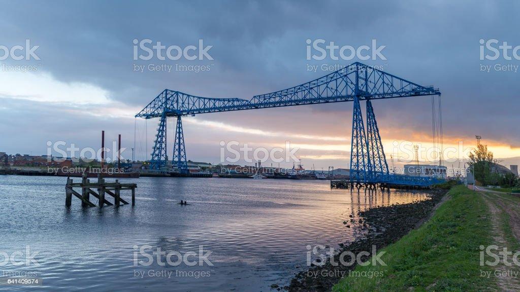 Transporter Bridge, Middlesbrough, UK stock photo