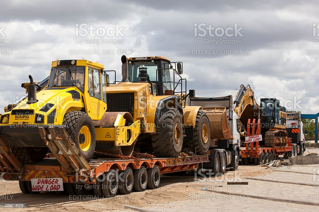 Transporting construction machines royalty-free stock photo