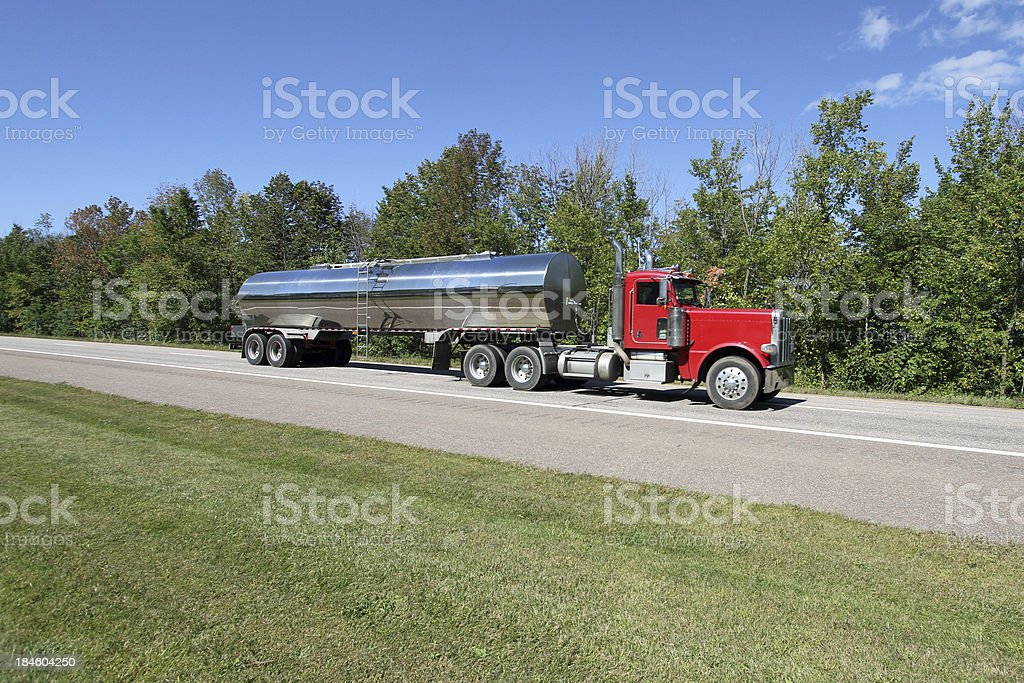 Transporting Milk stock photo