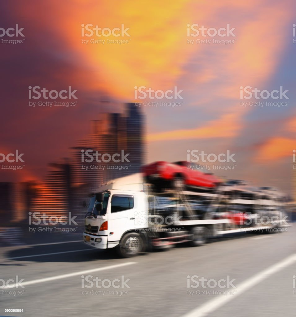 transports cars stock photo