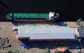Transshipment port in Szczecin