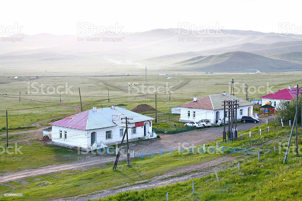 Trans-Siberian Railway from beijing china to ulaanbaatar mongolia stock photo
