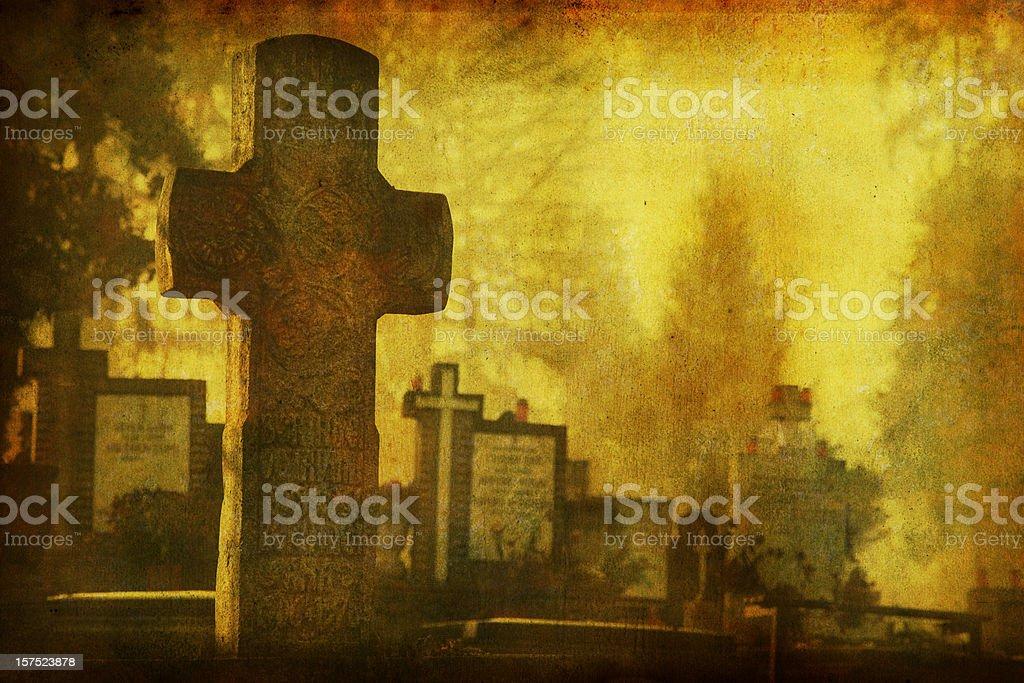 Transylvanian Gothic Cross royalty-free stock photo