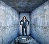 Trap Blocks Businesswoman's Path