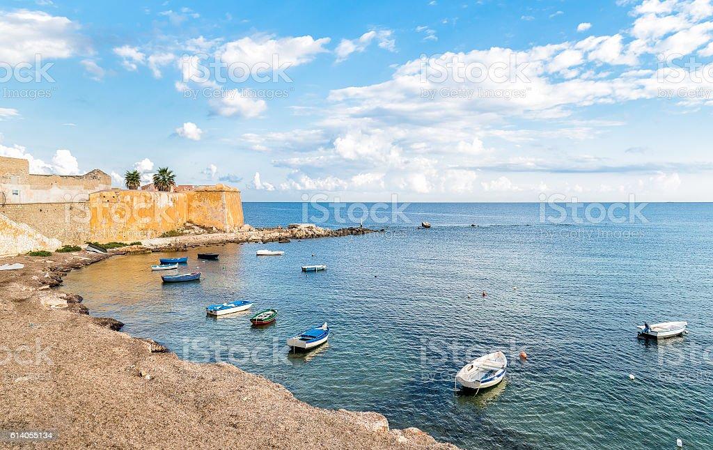 Trapani, Sicily. stock photo