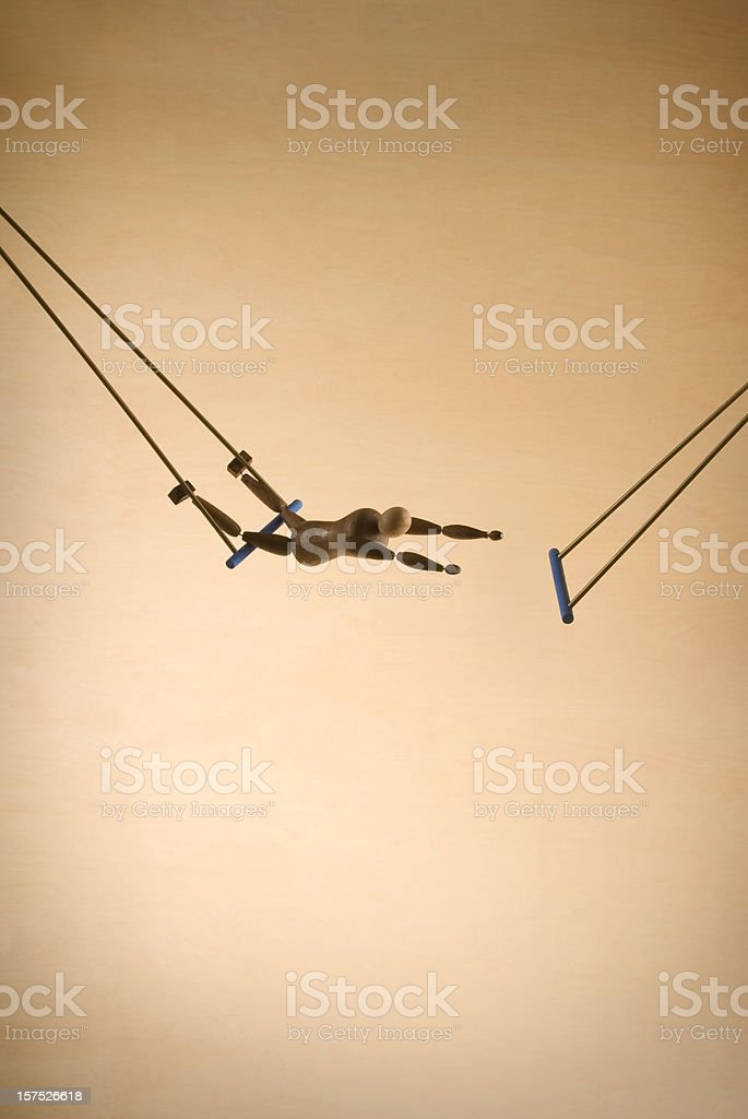 Trapeze Acrobat stock photo