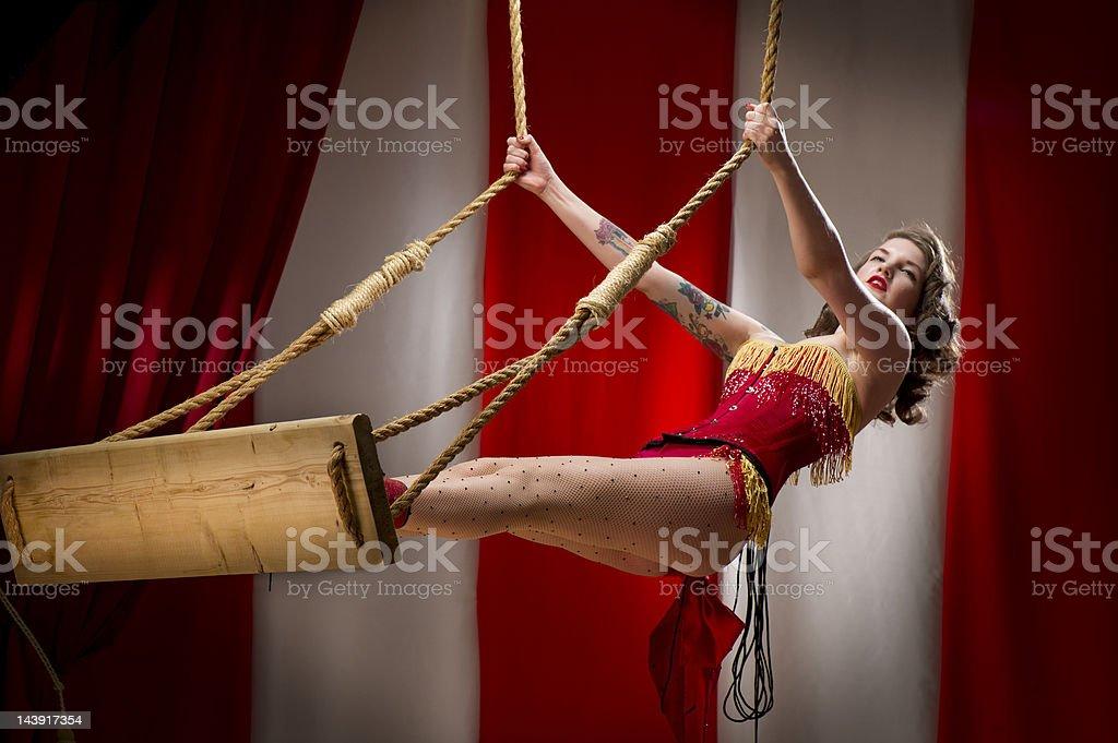 trapeze artist stock photo