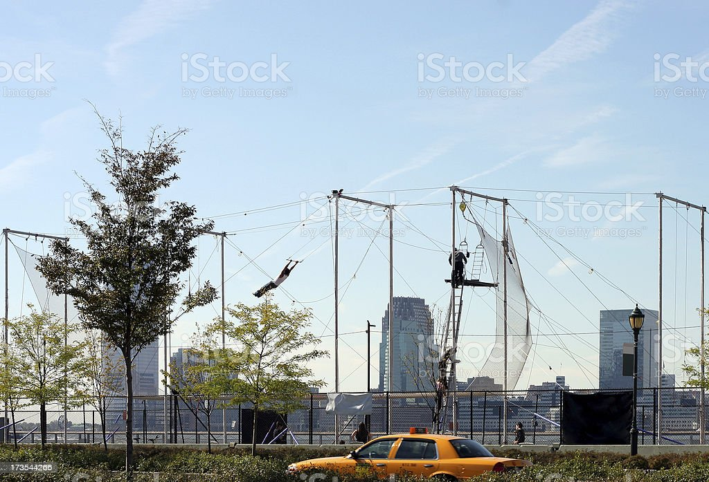 trapeze stock photo
