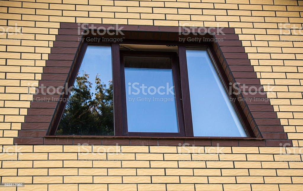 Trapezoidal window stock photo