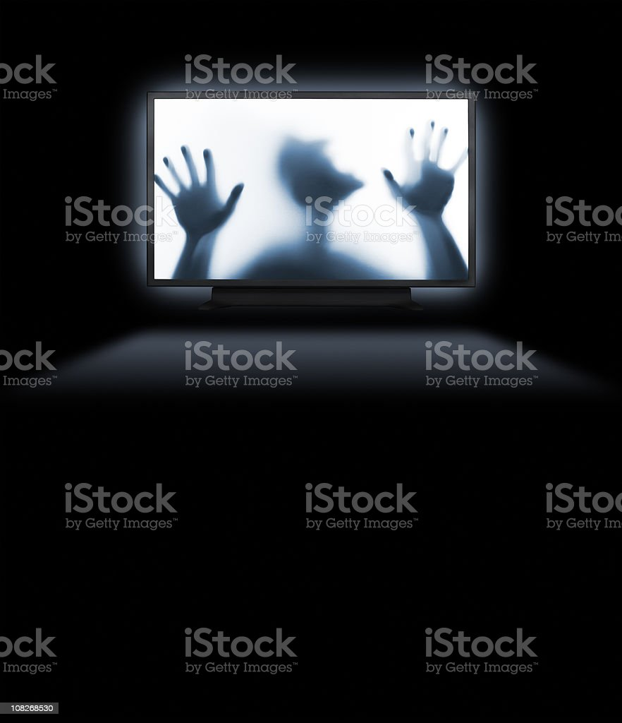 Trapped behind an hd screen royalty-free stock photo