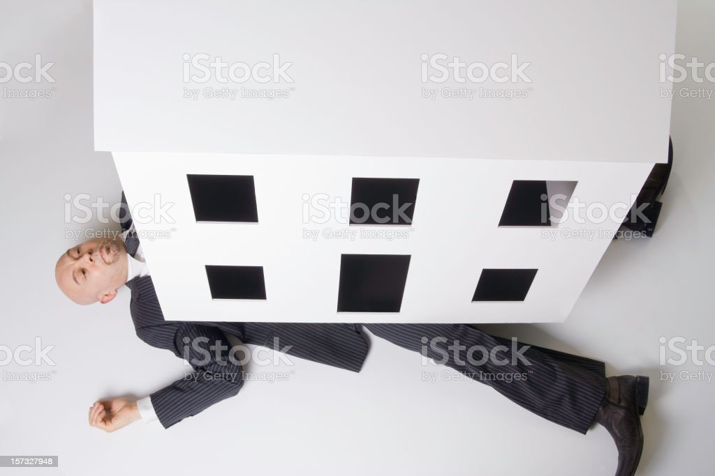 Trapped Beneath the House royalty-free stock photo