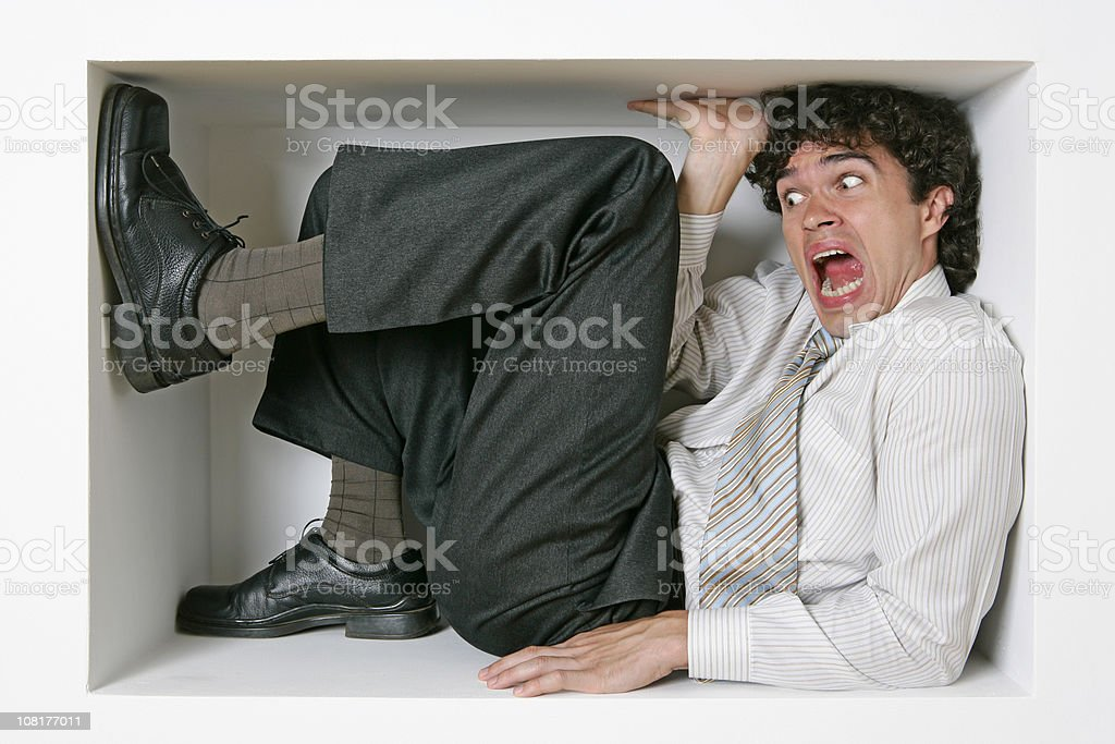 Trapped businessman royalty-free stock photo