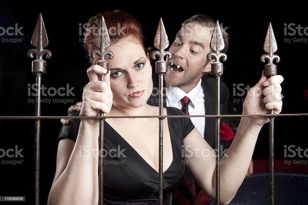 Trapped: Caught by a Blood-Sucking Vampire stock photo