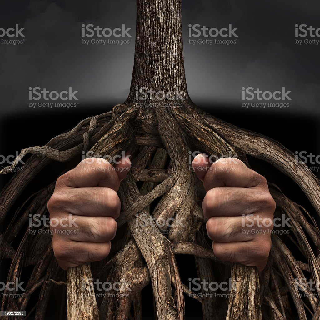 Trapped Concept stock photo