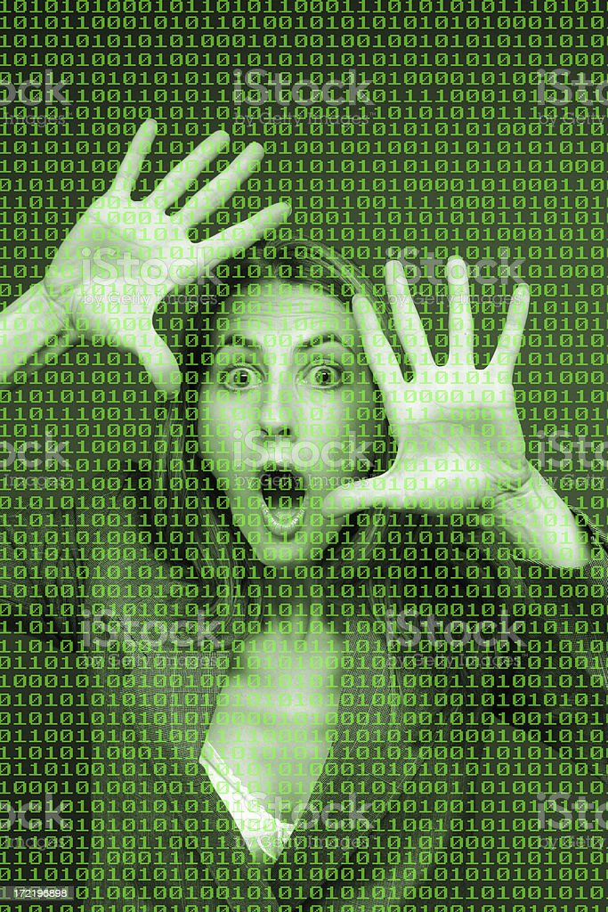 Trapped In The Digital World stock photo