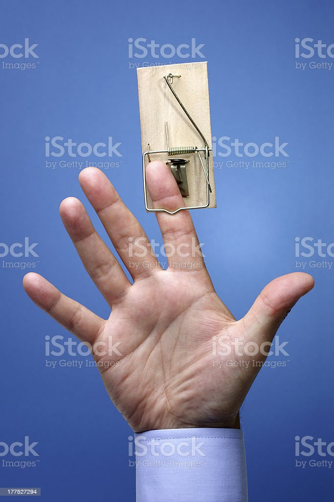 Trapped stock photo