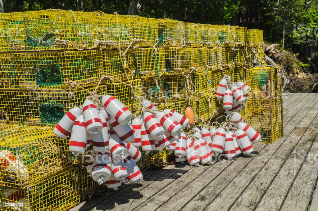 Traps and Bouys stock photo