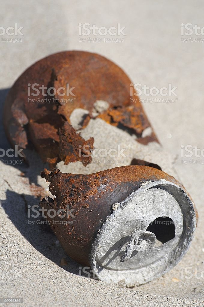 Trash Can (portrait) royalty-free stock photo