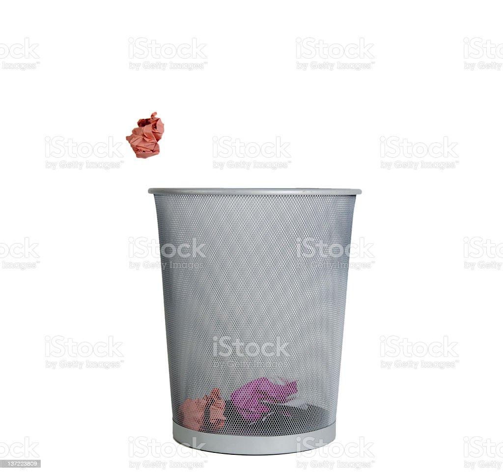 Trash Can Shot royalty-free stock photo