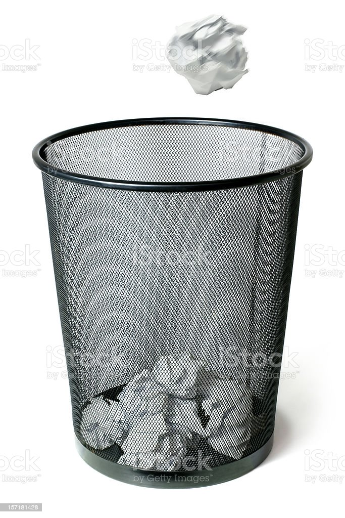 Trash Can Shot stock photo