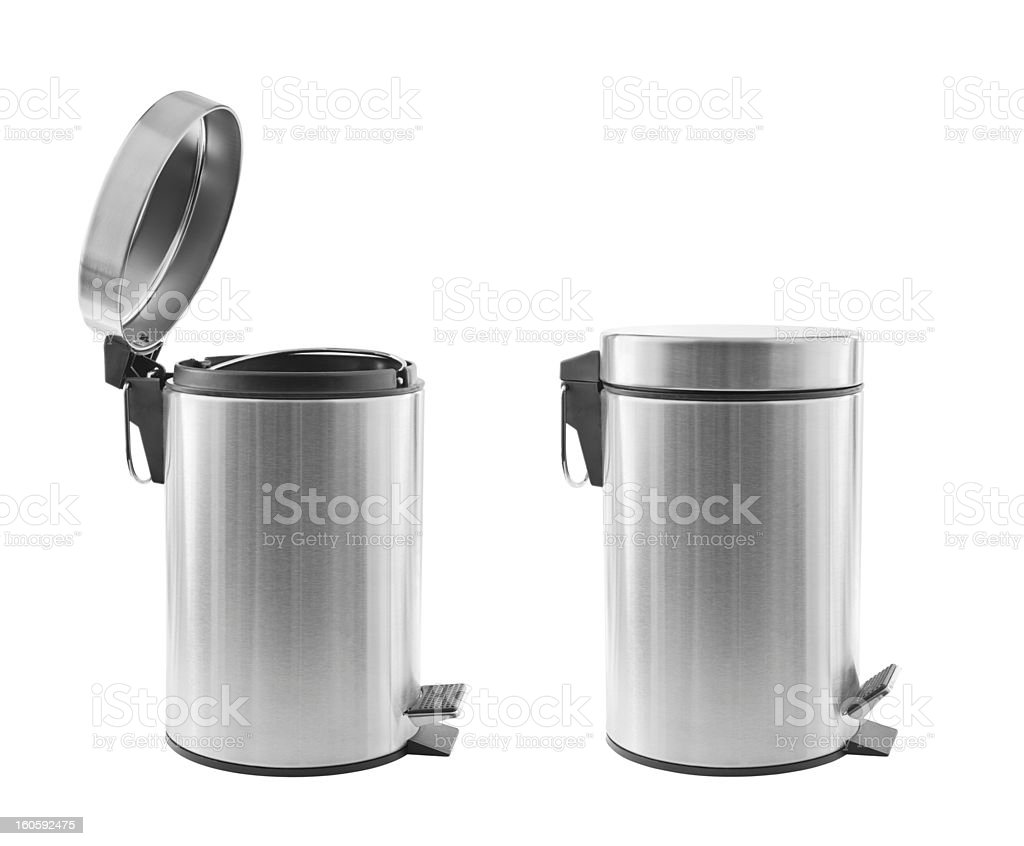 Trash cans isolated stock photo