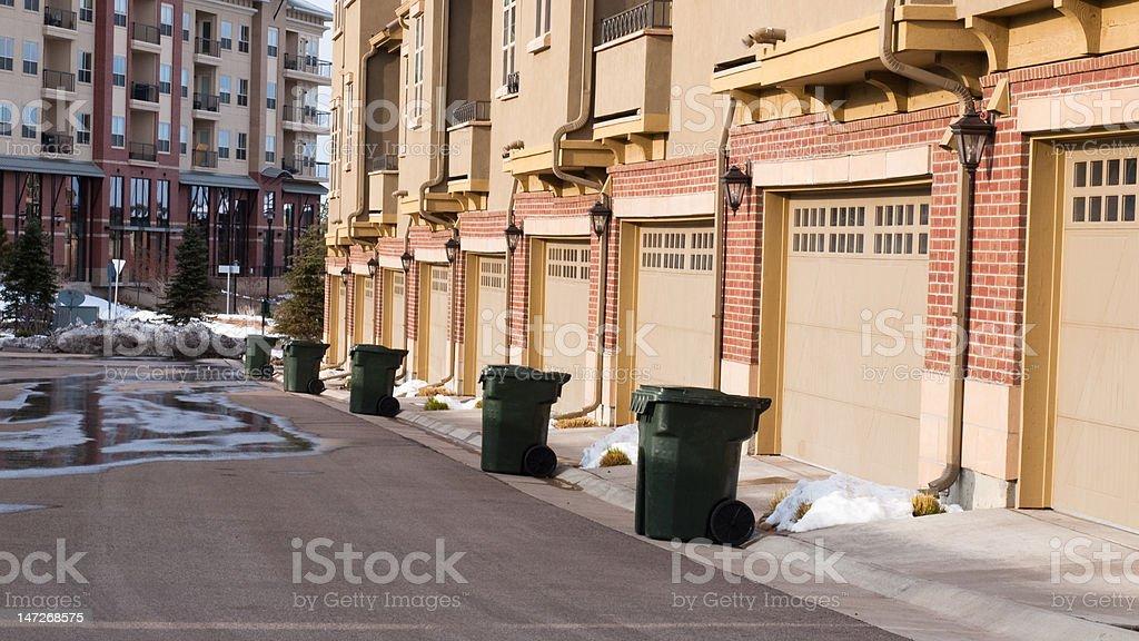 Trash day royalty-free stock photo