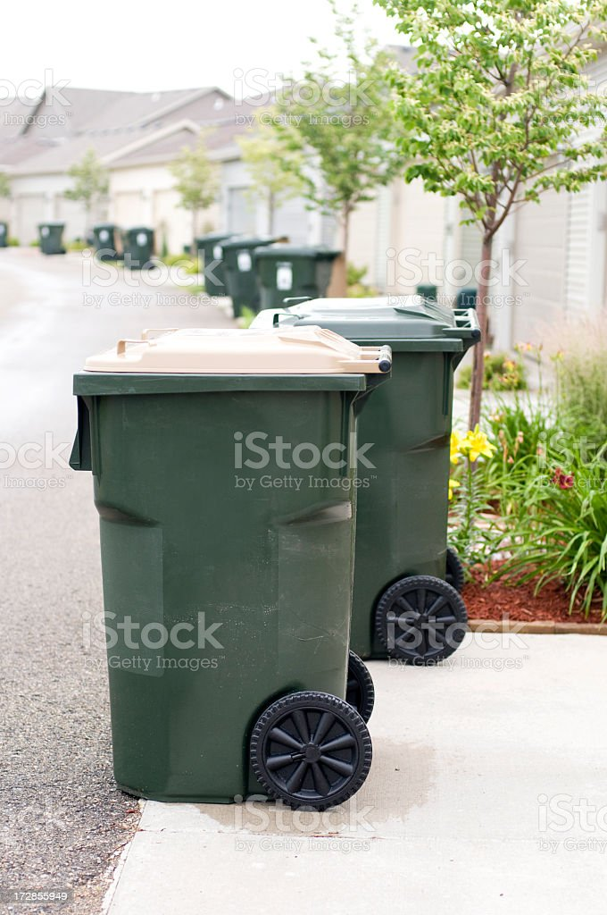 Trash Day stock photo