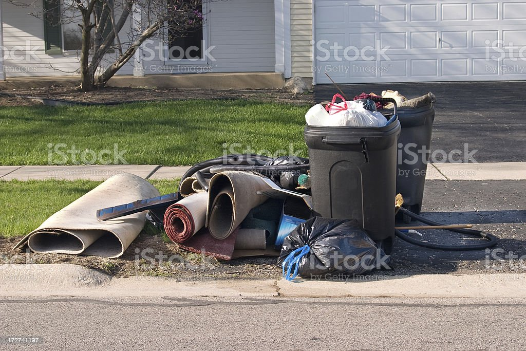 Trash Day Three stock photo