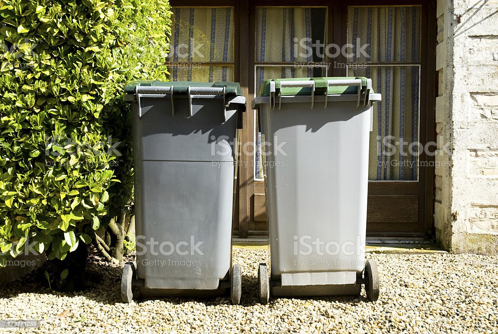Trash for collection and recycling royalty-free stock photo