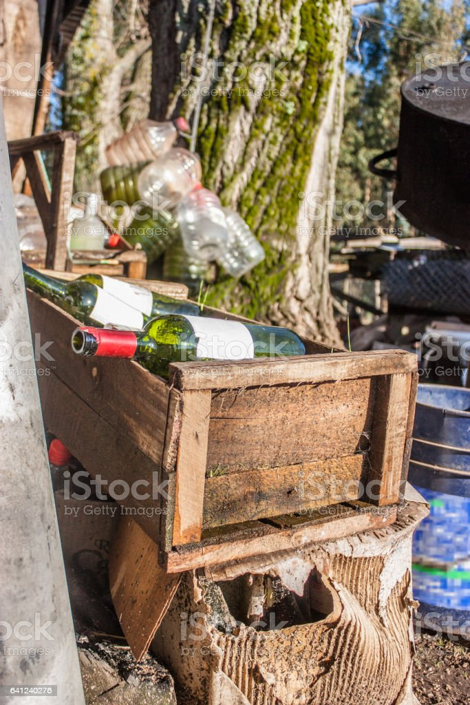 Trash garden stock photo