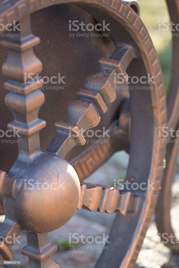 Trash in the form of chariots. stock photo