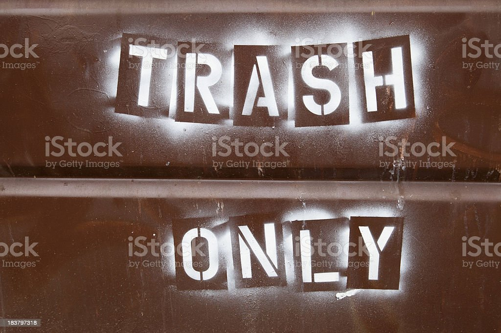 Trash Only royalty-free stock photo