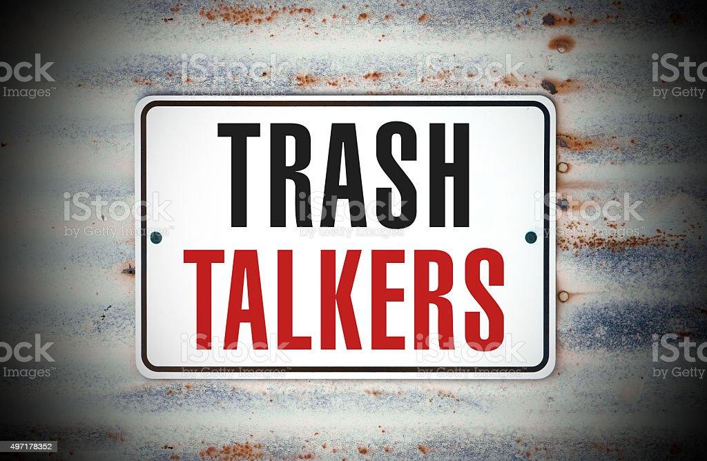 Trash Talkers stock photo