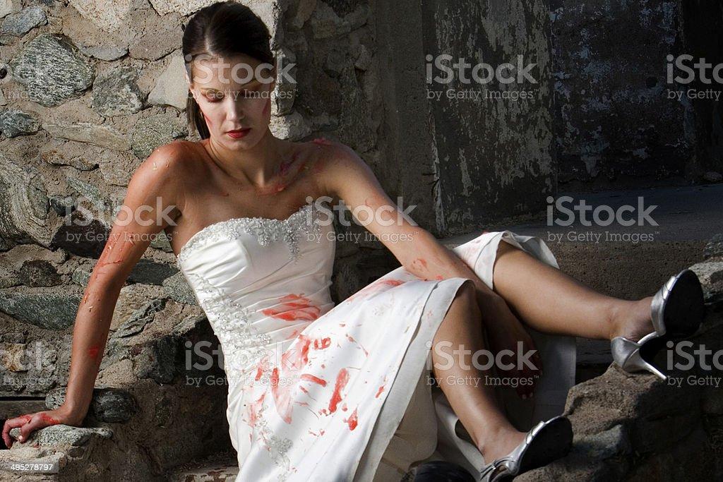 Trash the Dress Bride stock photo