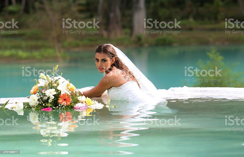 Trash the dress stock photo