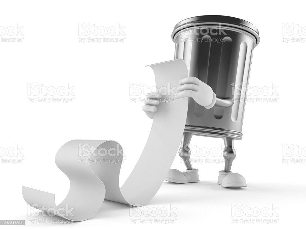 Trash toon stock photo