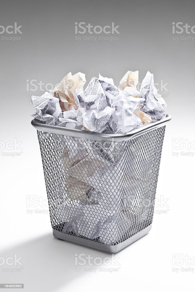 Trashcan stock photo