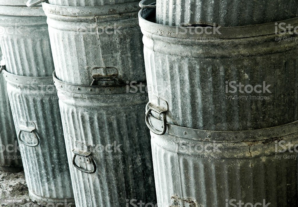 Trashcans royalty-free stock photo