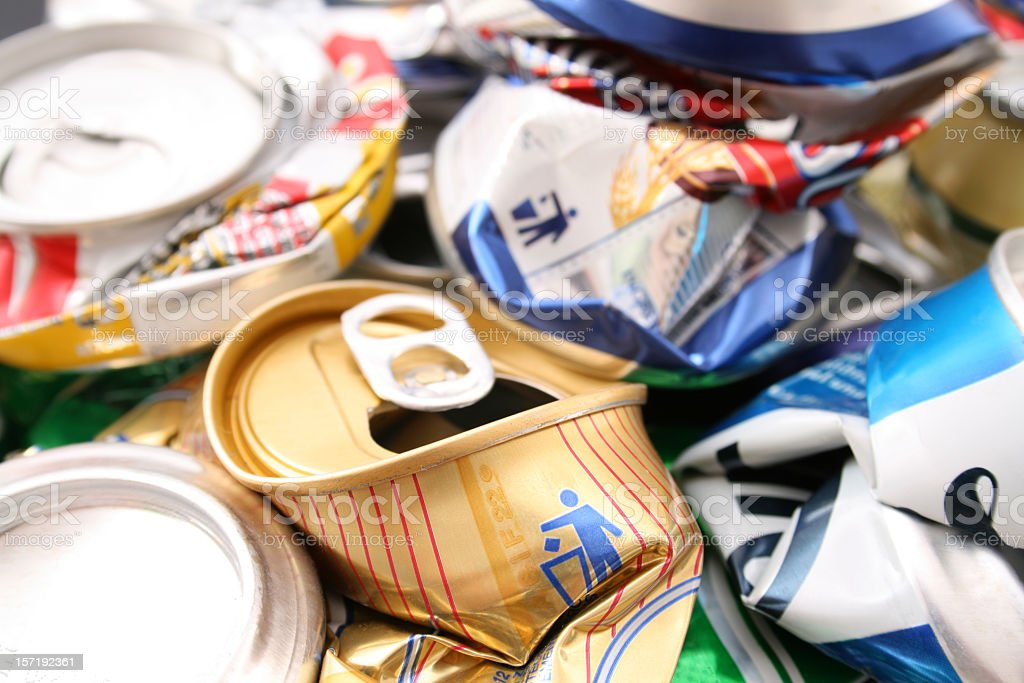 Trashed cans royalty-free stock photo