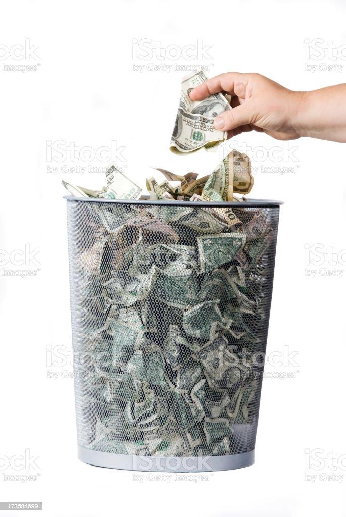 trashed dollars royalty-free stock photo