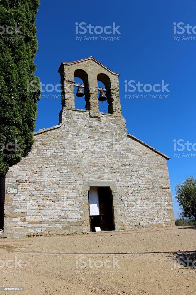 trasimeno lake - Isola maggiore, church of san michele stock photo