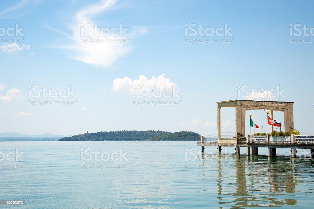Trasimeno Lake port stock photo
